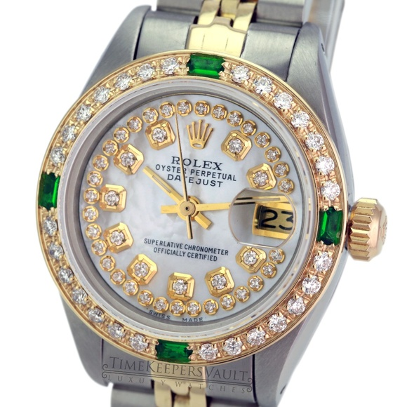 Rolex Lady Datejust White MOP Diamond Watch